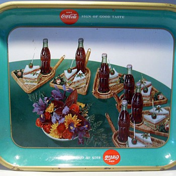 1957 Coca Cola Tray ( Canadian ) Sandwich