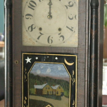 antique, very large clock marked 1818