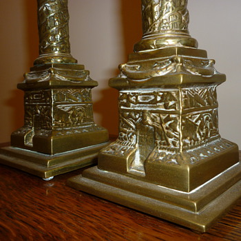 1920-1930's British candle sticks.