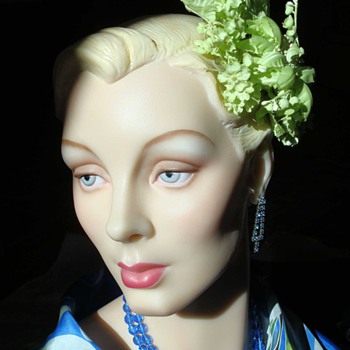 1950s Chartreuse Fascinator - Hats