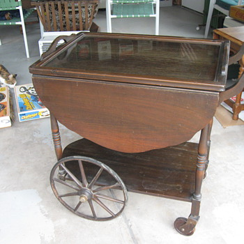 Old serving table cart - Furniture