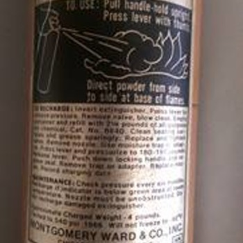 Wards Powr Kraft Fire Extinguisher (Made in 1966)