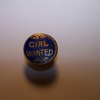 Girl wanted Button
