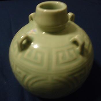 green asian vase