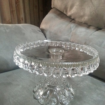Antique/vintage glass cake stand