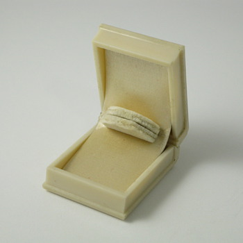 ivory book ring box with no logo