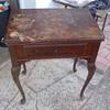 Restored singer sewing machine cabinet