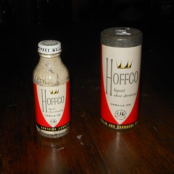 Vintage Hoffco Liquid Shoe Dressing Vanilla Ice - Advertising