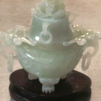 Beautiful  Jade Censer - Asian