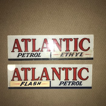 Atlantic Petrol Glass Signs