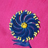 Large Enamel Flower Pin