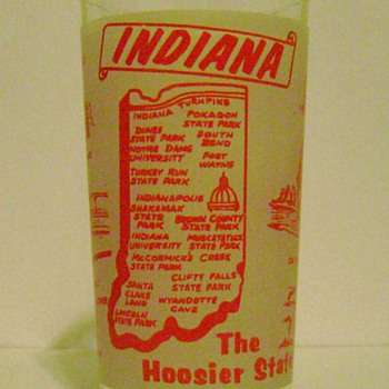 Vintage Indiana State Glass