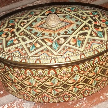 Metal Oval Box, Baret Ware