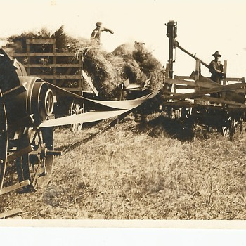 My Grandfather on Vintage Farm Photo - Photographs