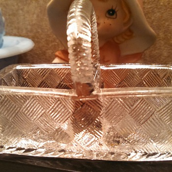 Clear Glass Divided Basket - Glassware