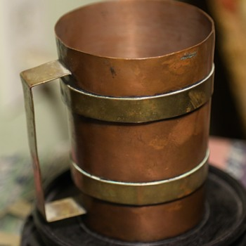 Copper and Brass Cup - Tlaquepaque - Mexico