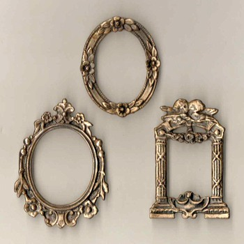 Silver Miniature Photo Frames - Silver