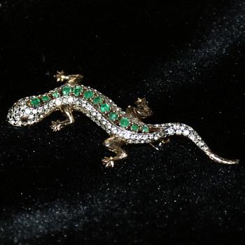 Panetta Rhinestone Lizard
