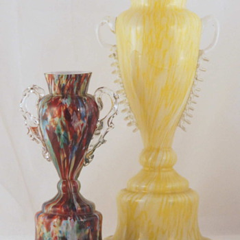 Welz Trophy Vases - Another Shape in 2 Sizes - Art Glass