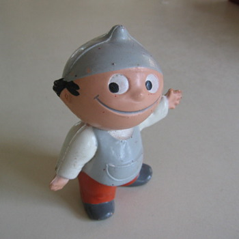 Plastic vinyl Rubber Toy Figure from Japan ?? 1960's ??