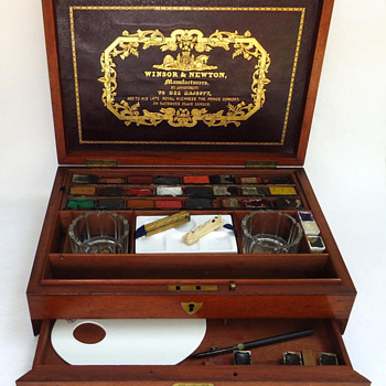 Watercolour Paint Box c.1862 - Victorian Era