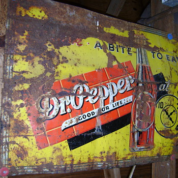 "Dr. Pepper ""Drink A Bite To Eat"" sign ""Good For Life"" 10-2-4 - Signs"