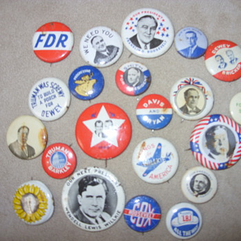 im for free silver political pins - Medals Pins and Badges