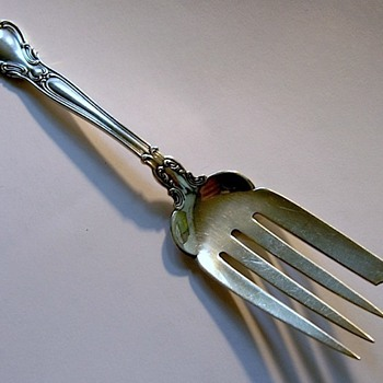 Can you ID sterling fish fork?  (Gorham beef serving fork) - Sterling Silver