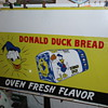 Donald Duck Bread Sign Tin 1940's