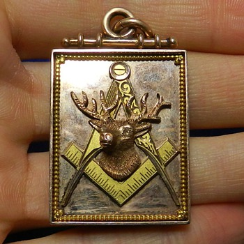 Huge 14k Gold Masonic Elks Medallion BPOE - Medals Pins and Badges
