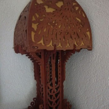 amsterdamse school lamp h64cm w29cm