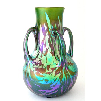 A large Loetz vase - Art Glass