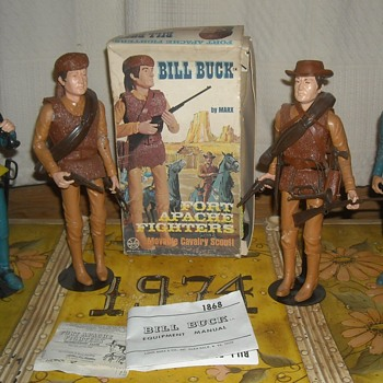 Marx BIll Buck Cavalry Scout Fort Apache Fighters Johnny West 1967 - Toys