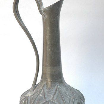 Pewter Wine Jug (I think) by A.E. Chanal, France, circa 1920ish