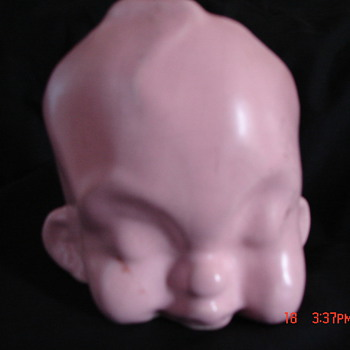 Strange Ugly Baby Head Planter - Art Pottery