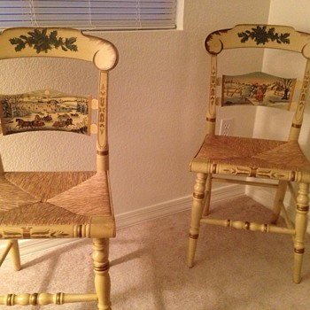 Matching Hitchcock chairs