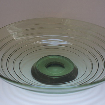 Whitefriars Sea Green Bowl  - Art Glass