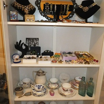 My Cabinet Full of Vintage Jewellery and Tea cups