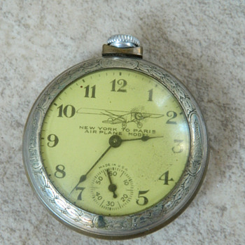 "Lindbergh ""New York to Paris"" Pocket Watch - Pocket Watches"