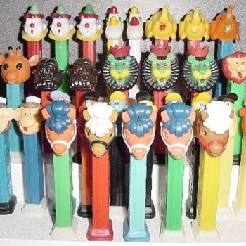 Pez Dispensers - Circus and Crazy Fruit