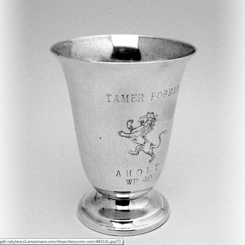 Silver Juice Cup with Name:  Tamer - Sterling Silver