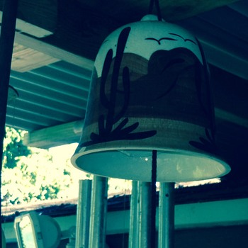 Pottery Bell Chime Signed Oiji AZ