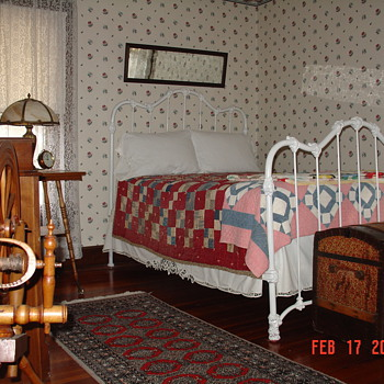 Antique Iron Bed - Furniture