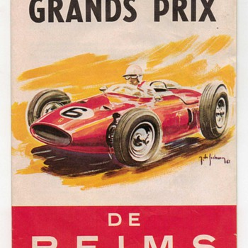 1962 Grand Prix de Reims Race Brochure - Paper