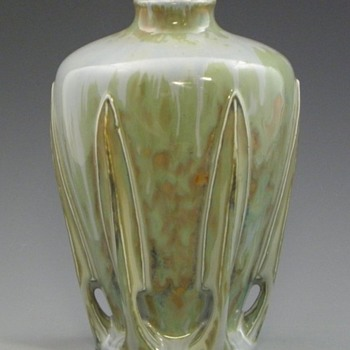 Buttressed French Vase Signed Georges Bourgeot  - Art Nouveau