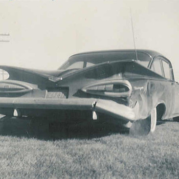 wrecked 1959 Biscayne - Photographs