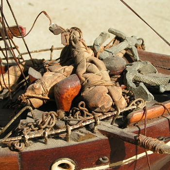 Old hand crafted ship. - Toys