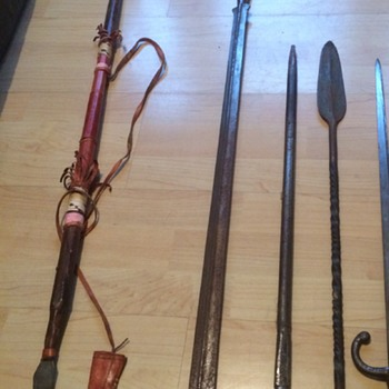 A Collection of antique weapons