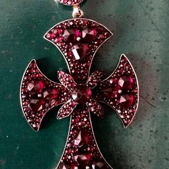 Victorian garnet cross