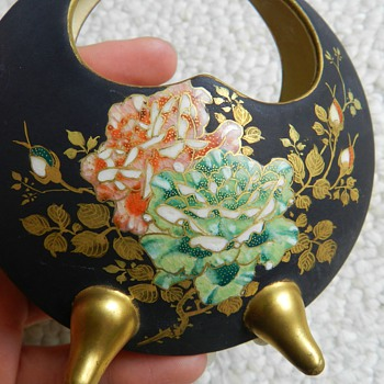 Weird Satsuma Crescent Vase - Asian